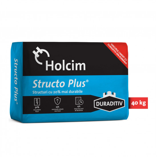 Ciment Holcim Structo Plus 40 Kg