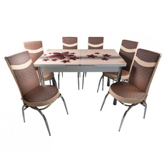 Set Masa + 6 Buc Scaune Decor 2-0021